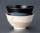 朝霞 黒飯碗