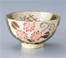 ばら織部茶碗