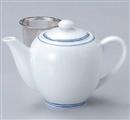 青白磁ポット(茶漉し付)