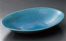 青ガラス釉変型盛鉢