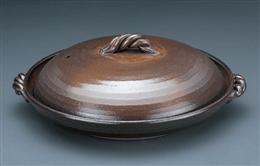 灰釉7号蓋付陶板