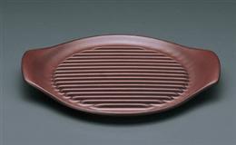 鉄赤26cmステーキ皿