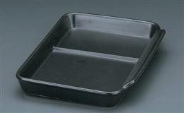 耐熱ブラック仕切付長角皿
