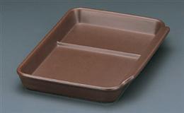 耐熱ブラウン仕切付長角皿