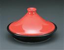 赤釉タジン21cm鍋
