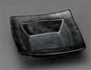 銀黒四角平鉢