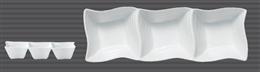 白磁ウエーブ三品鉢