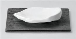 強化白釉ちぎり4.5寸皿