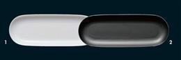 オーバル27cm長丸皿白