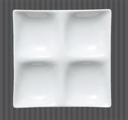 白磁コワケミニ四ッ仕切皿