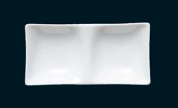 白磁コワケミニ二ツ仕切皿