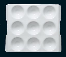 白磁ディンプルナインプレート