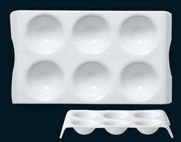 白磁ディンプルシックスプレート