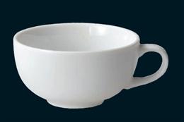 白磁片手スープカップ