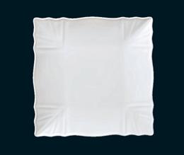 白リンクル15cm四角皿