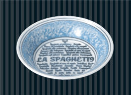 ナポリ(ブルー)14.5cmフルーツ
