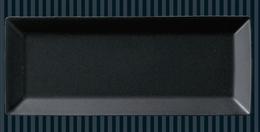 スクエア25cm長角皿黒