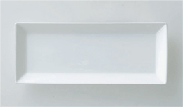 スクエア25cm長角皿白