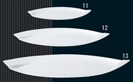白磁オビ21cm長皿