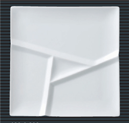 白磁29cm仕切り正角プレート