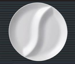 2ツ仕切りランチ皿(L)