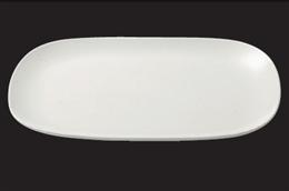 ストーンホワイト15吋丸角大皿
