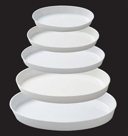 KMホワイト11吋楕円プラター