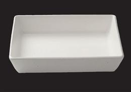 ストーンホワイト14吋長角盛鉢
