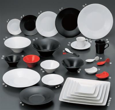 フレンチ 小皿(黒)