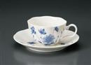 NBブルーフラワーコーヒー碗皿(碗と受け皿セット)