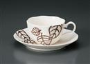 NB木の葉コーヒー碗皿(碗と受け皿セット)