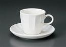 ソギ白コーヒー碗皿(碗と受け皿セット)