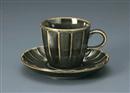 ソギオリベコーヒー碗皿(碗と受け皿セット)