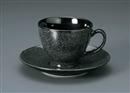 Pokela漆黒コーヒーC/S(碗と受け皿セット)
