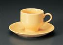 M型イエローコーヒーC/S(碗と受け皿セット)