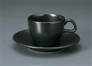 カーサ(黒マット)兼用C/S(碗と受け皿セット)