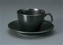カーサ(黒マット)アメリカンC/S(碗と受け皿セット)