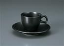 カーサ(黒マット)デミタスC/S(碗と受け皿セット)