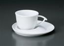 白磁ブルームC/S(碗と受け皿セット)
