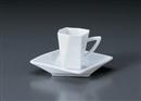 白磁折り紙デミタスC/S(YUW)(碗と受け皿セット)