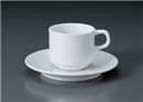 パールスタックコーヒー碗皿(碗と受け皿セット)