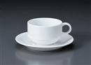 マキシム(特白磁)スタックカプチーノC/S(碗と受け皿セット)