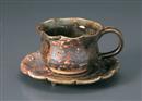 織部コーヒーC/S(碗と受け皿セット)