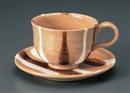 色流しコーヒー碗皿(碗と受け皿セット)