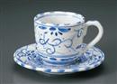古代ナポリコーヒー碗皿(碗と受け皿セット)