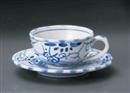 古代ナポリ紅茶碗皿(碗と受け皿セット)