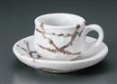 雪志野コーヒー碗皿(碗と受け皿セット)