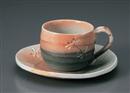 秋トンボ丸コーヒー碗皿(碗と受け皿セット)