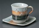 夏トンボ角コーヒー碗皿(碗と受け皿セット)