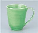 緑釉櫛目マグカップ